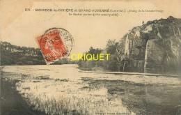 44 Moisdon La Rivière Et Grand Auverné, Etang De La Grande Forge, Le Rocher Parlant, Affranchie 1911 - Moisdon La Riviere