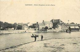 - Manche -ref-B346- Carteret - Hotels D Angleterre Et De La Marine - Hotel - Carte Bon Etat - - Carteret