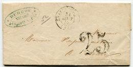 MEURTHE ET MOSELLE De CHATEAU SALINS LAC Du 31/08/1853 Avec Taxe Tampon De 25 Et Dateur T 15 - Marcophilie (Lettres)
