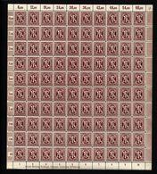 Am-Post-Bogen,33aD,BT.2 Xx,gefaltet (M7) - Bizone