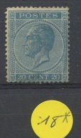20c *   18 Avec Colle D'origine Mais Petit Aminci Dans Le Bas    550,-E De Cote - 1865-1866 Profile Left