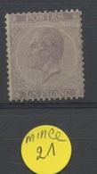 1F ( * )   21 Sans Colle Et 3 Petits Amincis Dans Les Bords    1450,-E De Cote - 1865-1866 Profil Gauche