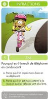 1 Carte D'un Jeu De 7 Familles (Zoé) / Infractions / Vélo Bicyclette Cyclisme Bicycle Téléphone - Unclassified