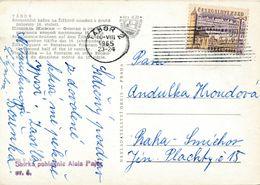 M1310 - Czechoslovakia (1965) Tabor 2 (postcard: City Tabor, Zizka Square); Tariff: 30h (stamp: City Domazlice) - Tschechoslowakei/CSSR