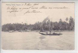 CEYLON - FISHING BOATS - 3.03.1906 - VOILIERS - POUR LA SUISSE ! - Sri Lanka (Ceylon)