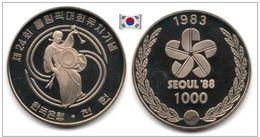 South Korea - 1000 Won 1983 (Seoul '88 - Proof - 101,000 Ex.) - Corea Del Sud