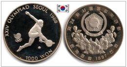 South Korea - 1000 Won 1987 (Seoul '88 - Tennis -  Proof - 140,000 Ex.) - Korea, South