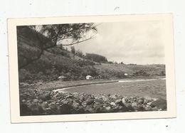 Carte Photo , REUNION , MANAPANY LES BAINS , Voyagée 1951, 2 Scans , Timbre 25 F Surchargé 8 F CFA - La Réunion