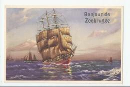 CPA BEL- ZEEBRUGGE - BONJOUR DE - Zeebrugge