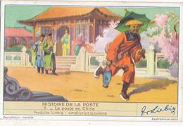 CHROMO LIEBIG - HISTOIRES DE LA POSTE - N° 1 - LA POSTE EN CHINE - Liebig