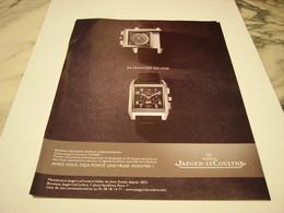 PUBLICITE AFFICHE  MONTRE JAEGER-LECOULTRE 2008 - Jewels & Clocks