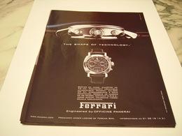 PUBLICITE AFFICHE  MONTRE FERRARI 2008 - Jewels & Clocks