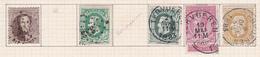 Belgique COB 14 30(x2) 46(x2) 32 Oblitérés Tervueren - België