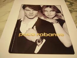 PUBLICITE AFFICHE  MONTRE PACO RABANNE - Bijoux & Horlogerie