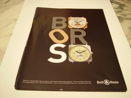 PUBLICITE AFFICHE  MONTRE BELL&ROSS - Jewels & Clocks