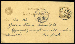 MEDGYES 1897. Régi Díjjegyes Lap, Szép Bélyegzéssel Brassóba - Usado