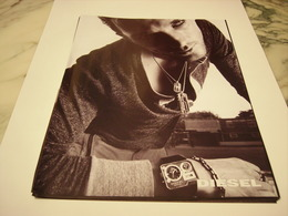PUBLICITE AFFICHE  MONTRE DIESEL - Bijoux & Horlogerie