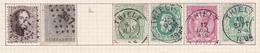 Belgique COB 14 17 30(x2) 46 45 Oblitérés Thielt - België