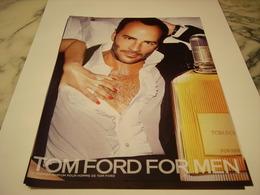 PUBLICITE AFFICHE PARFUM TOM FORD FOR MEN - Publicités
