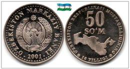 Ouzbékistan - 50 Som 2001 (10th Anniversary Independence - UNC) - Uzbekistan