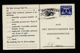 A5113) Niederlande Ganzsachekarte 1943 Gebraucht - 1891-1948 (Wilhelmine)