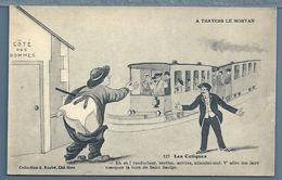 CPA - A TRAVERS LE MORVAN - N° 127 : LES COLIQUES - Humor
