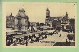 Châlons Sur Marne : Place Godart Et Le Marché. 2 Scans. Edition Levy Neurdein - Châlons-sur-Marne