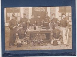 CARTE PHOTO MILITAIRE -  SAPEURS De CONTADES   ( STRASBOURG ? )     Classe 1905   SAPEUR POMPIERS - Kasernen