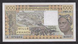 Côte D'Ivoire - 1000 Francs - 1981 -  Pick N°107Ab - SPL - Côte D'Ivoire