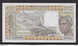 Côte D'Ivoire - 1000 Francs - 1990 -  Pick N°107Aj - Neuf - Côte D'Ivoire