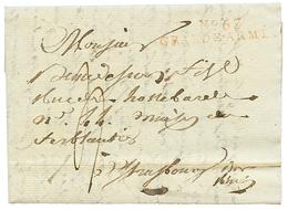 """61 1807 N°67 GRANDE ARMEE Rouge Sur Lettre Avec Texte Daté """"MARIENWERDER"""" Pour STRASBOURG. TB. - France"""