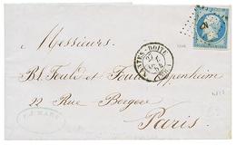 122 POSTE FERROVIAIRE - Cachet D' ESSAI : 1854 20c(n°14) Obl. NP + NANTES BOITE AMB.1, Pour PARIS. TTB. - France