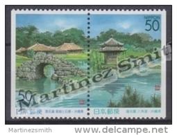 Japan - Japon 1999 Yvert 2677a-78a, Shikinaen Gardens - Pair From Booklet - MNH - 1989-... Emperor Akihito (Heisei Era)