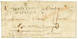 478 1833 B ARMEE EXPEDre D'AFRIQUE + Cachet Rouge PURIFIE A TOULON Sur Lettre Avec Texte De BONE. TTB. - Algérie (1924-1962)