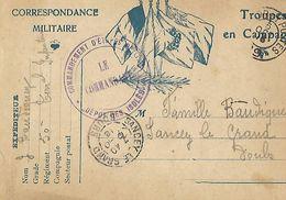 CARTE CORESSPONDANCE MILITAIRE / TROUPES EN CAMPAGNE / Dépôt Des Isolés / 50è Reg D'infanterie 1918 - 1914-18