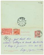 582 1926 Entier 10c Groupe (+ Reponse Neuve)+ 10c+ 1F Obl. CAYENNE En RECOMMANDE Pour PRAGUE. TB. - Guyane Française (1886-1949)