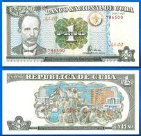 Cuba 1 Peso 1995 Que Prix + Port Jose Marti Caraibe Billet Peso Centavos Bitcoin Skrill OK - Cuba