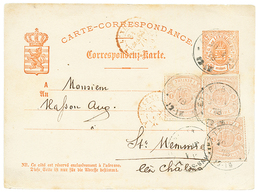 932 LUXEMBOURG : 1878 P./Stat 10c + 1c(x3) Canc. ETTELBERG To FRANCE. RARE. Vf. - Luxembourg