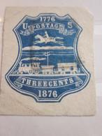 1776-1876 US Postage RAILWAY  Three Cents Amérique UNITED STATES OF AMERICA Etats-Unis Stamp LABEL Vignette Erinnophilie - United States