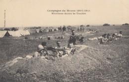 CPA - Mitrailleuses Derrière Les Tranchées - Campagne Du Maroc 1907 / 1911 - Materiaal