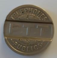 Jeton - P.T.T - Téléphone Public - 1937 - TTB - - Professionals / Firms