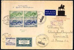 POLAND 1938 - PHILATELIC EXHIBITION - SHEET 5 - REGISTERED AIRMAIL COVER - RARE - Full Sheets