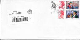 Belle Enveloppe Suivie  Voir Timbre Taxe 1 - Marcophilie (Lettres)