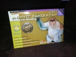 Malaysie - 25 Sen 2003 (RARE - Proboscis Monkey - In Folder Bank - 100,000 Ex.) - Malasia