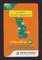 Carte Publicitaire Météo France Pour Le Département De La Manche (50). - Other Collections