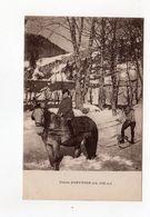 Chalet D'Arvières ( Alt. 1150 M ) , Neige , Homme à Ski Tiré Par âne Ou Mule - 01 - - France