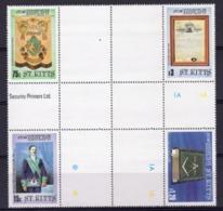 S. Kittis 1985, Massonic Lodge Cross Block UNIQUE Unfolded - St.Kitts Und Nevis ( 1983-...)