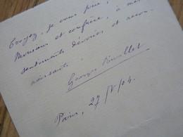 Georges RIVOLLET (1852-1928) Romancier. Dramaturge. Librettiste - AUTOGRAPHE - Autogramme & Autographen