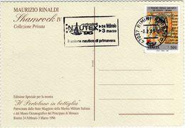 Italia 1996 Rimini Fiera NAUTEX '96 Salone Nautico Di Primavera Annullo Meccanico Cartolina - Fabbriche E Imprese