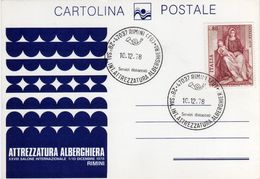 Italia 1978 Rimini Fiera 28° Salone Int. Attrezzatura Alberghiera Annullo Cartolina Dedicata - Fabbriche E Imprese